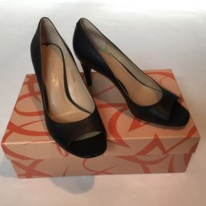 Via Spiga peep toe pump.